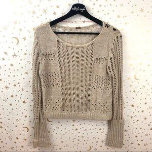Free People | Goccia Open Knit Cropped Sweater